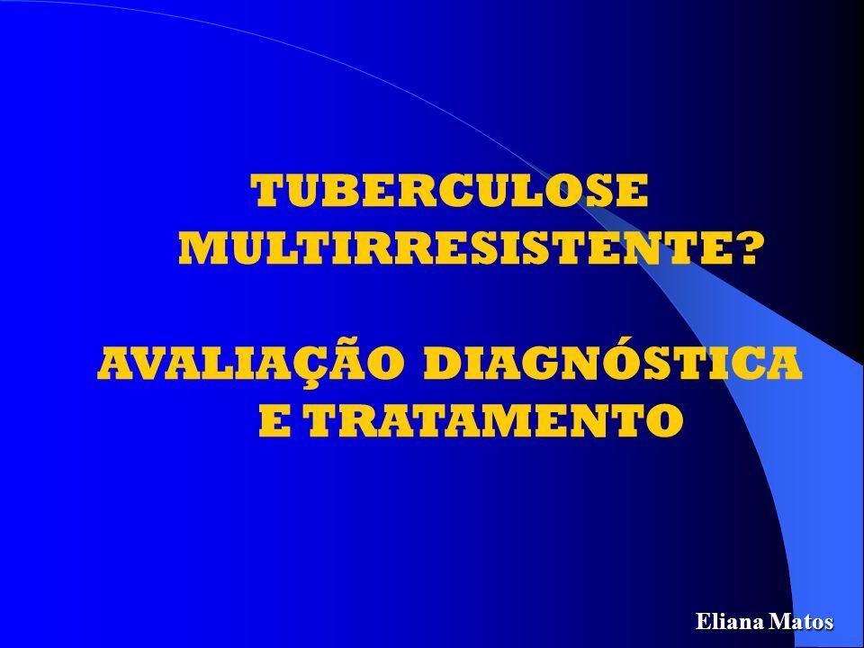 TUBERCULOSE MULTIRRESISTENTE AVALIAÇÃO DIAGNÓSTICA E TRATAMENTO