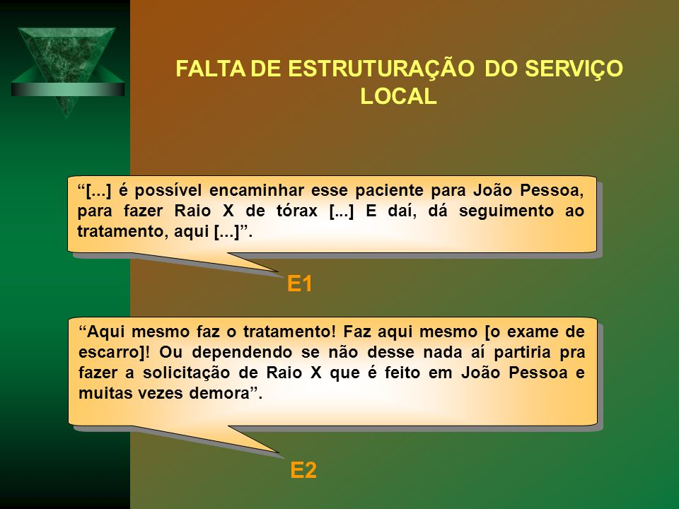 FALTA DE ESTRUTURAÇÃO DO SERVIÇO LOCAL