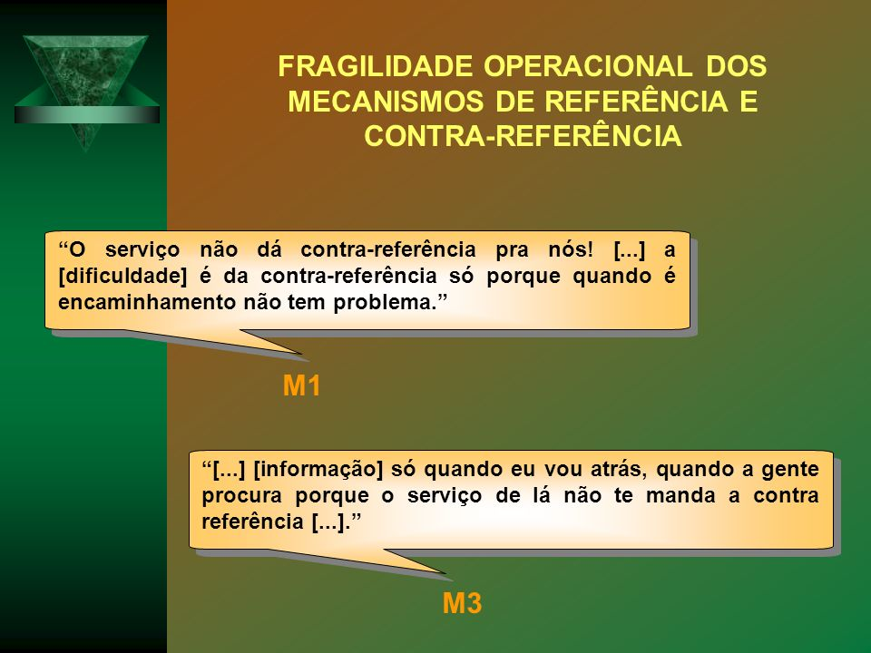 FRAGILIDADE OPERACIONAL DOS MECANISMOS DE REFERÊNCIA E CONTRA-REFERÊNCIA