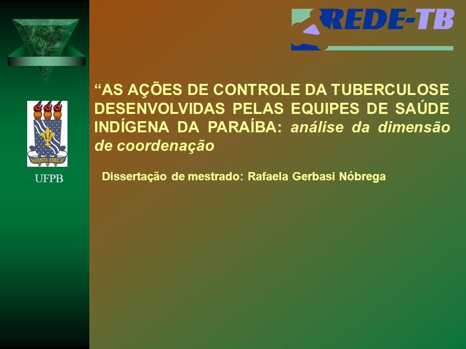 AS AÇÕES DE CONTROLE DA TUBERCULOSE DESENVOLVIDAS PELAS EQUIPES DE SAÚDE INDÍGENA DA PARAÍBA: análise da dimensão de coordenação