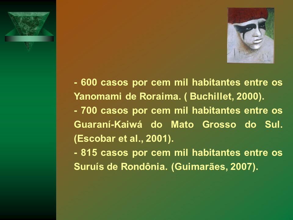 - 600 casos por cem mil habitantes entre os Yanomami de Roraima