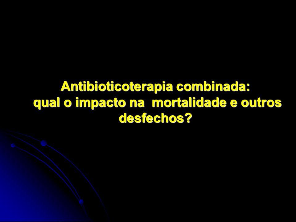 Antibioticoterapia combinada: qual o impacto na mortalidade e outros desfechos
