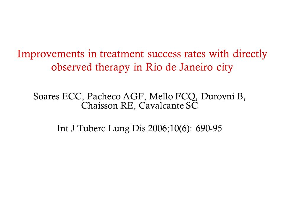 Int J Tuberc Lung Dis 2006;10(6): 690-95