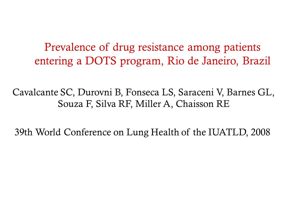 39th World Conference on Lung Health of the IUATLD, 2008