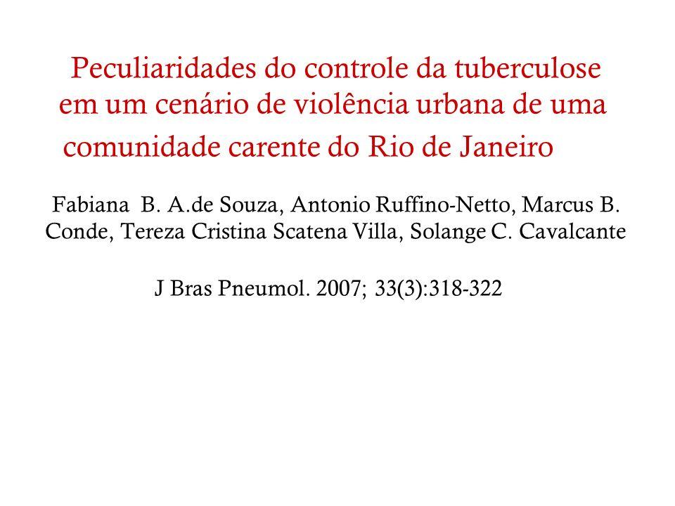 Peculiaridades do controle da tuberculose em um cenário de violência urbana de uma comunidade carente do Rio de Janeiro
