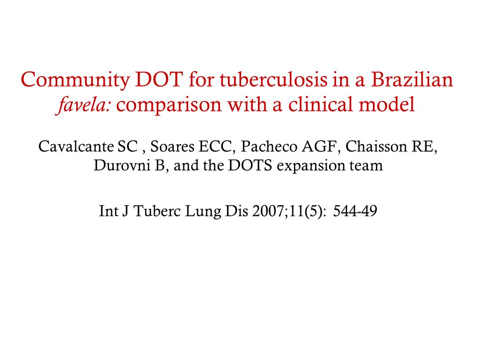 Int J Tuberc Lung Dis 2007;11(5): 544-49