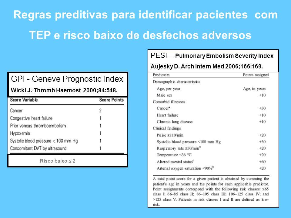Regras preditivas para identificar pacientes com