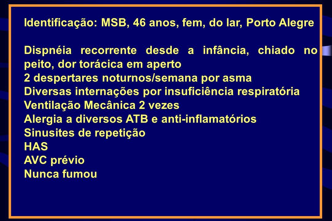 Identificação: MSB, 46 anos, fem, do lar, Porto Alegre