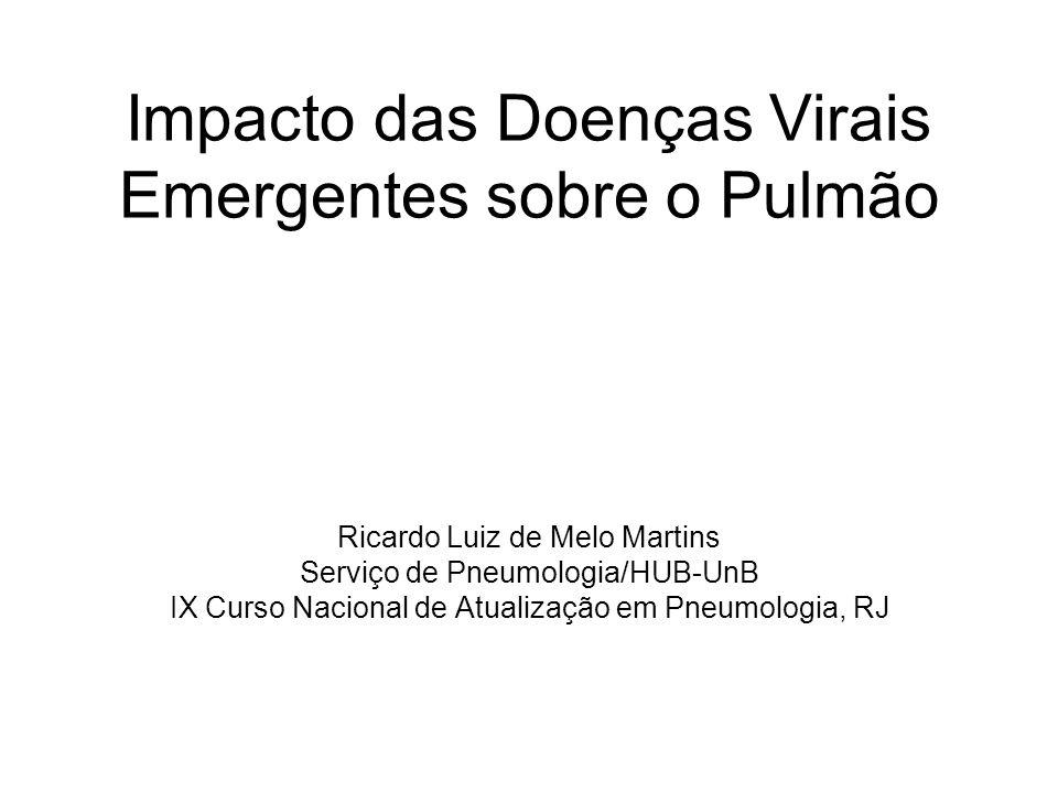 Impacto das Doenças Virais Emergentes sobre o Pulmão