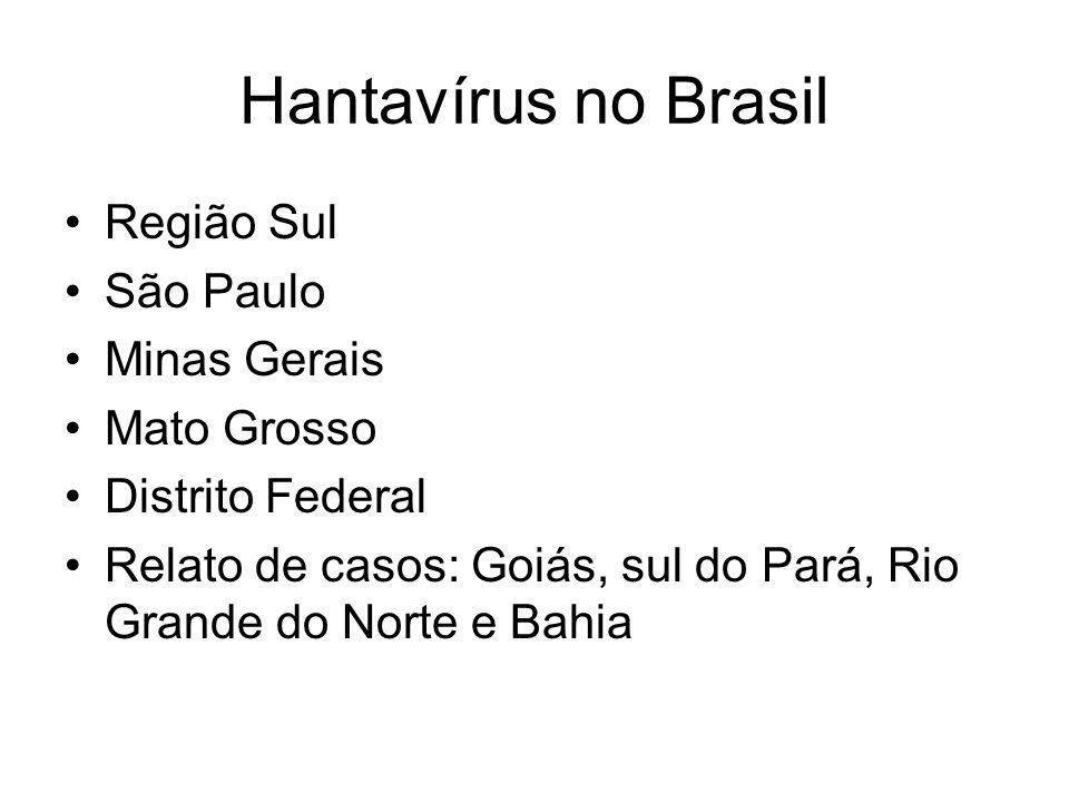 Hantavírus no Brasil Região Sul São Paulo Minas Gerais Mato Grosso