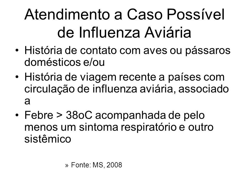 Atendimento a Caso Possível de Influenza Aviária
