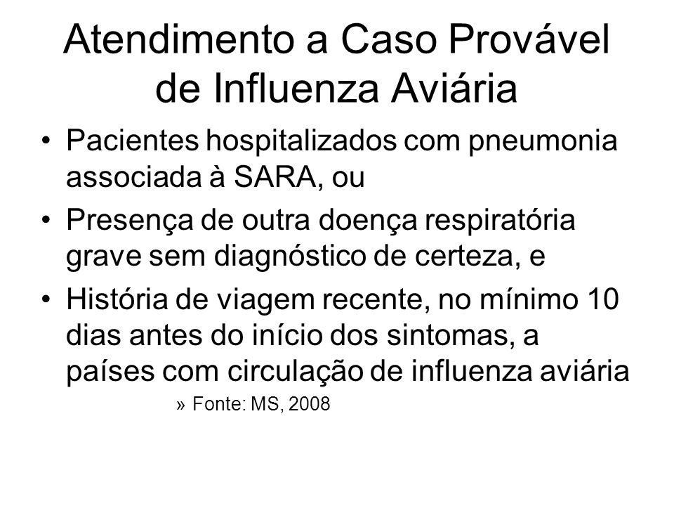 Atendimento a Caso Provável de Influenza Aviária