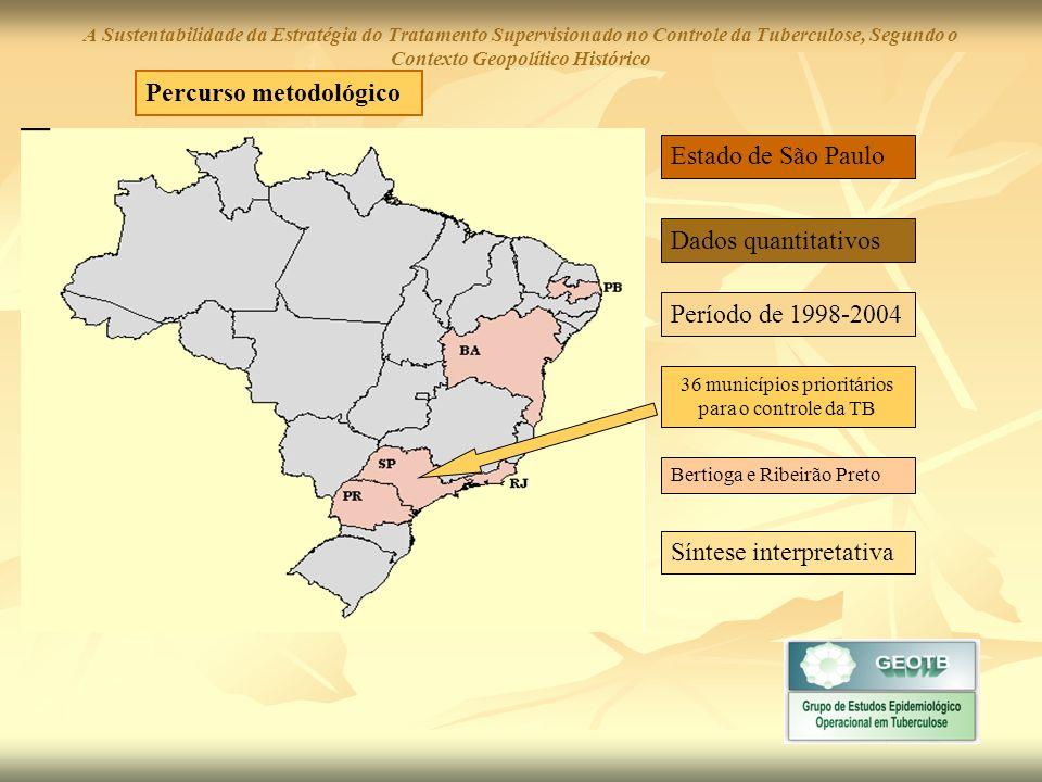 36 municípios prioritários para o controle da TB