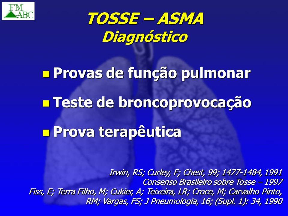 TOSSE – ASMA Diagnóstico