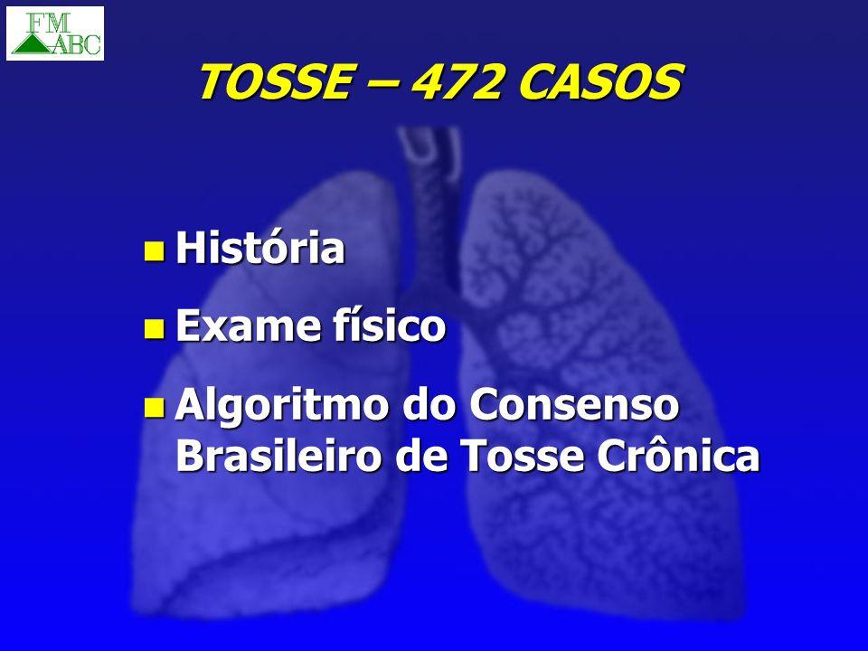 TOSSE – 472 CASOS História Exame físico