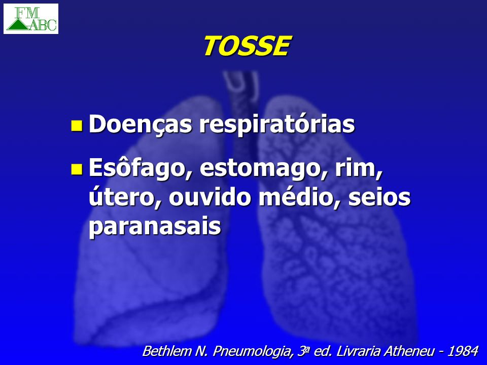TOSSE Doenças respiratórias