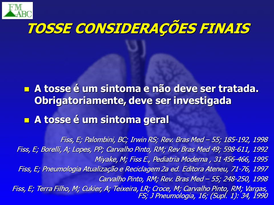 TOSSE CONSIDERAÇÕES FINAIS