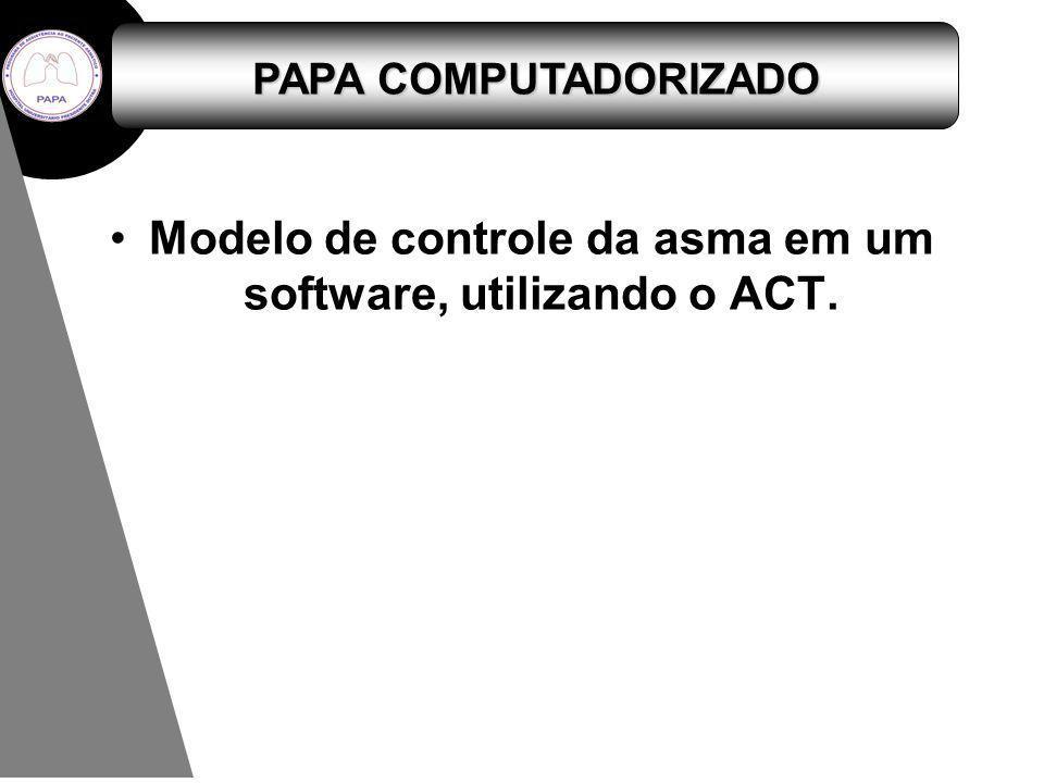Modelo de controle da asma em um software, utilizando o ACT.