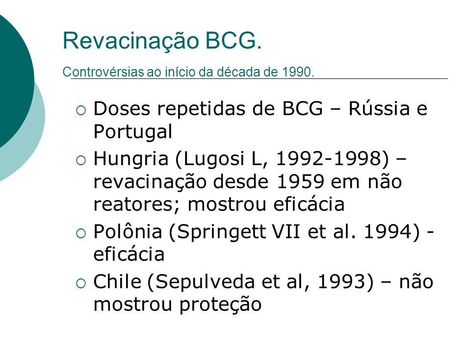 Revacinação BCG. Controvérsias ao início da década de 1990.