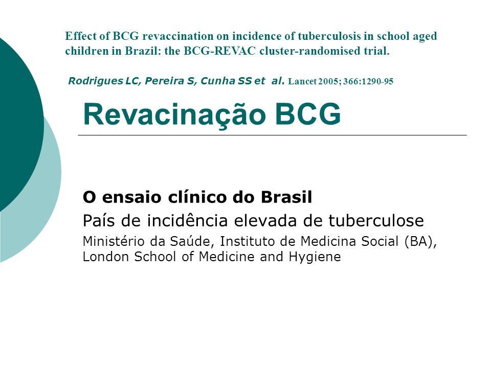 Revacinação BCG O ensaio clínico do Brasil