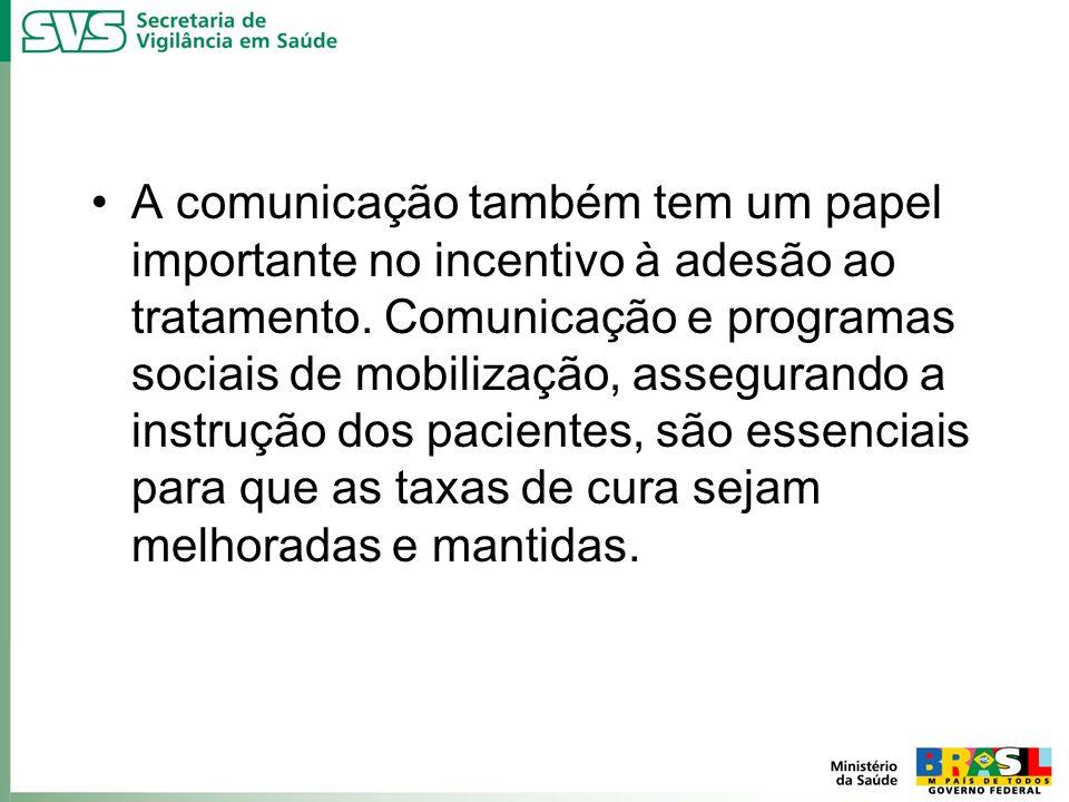 A comunicação também tem um papel importante no incentivo à adesão ao tratamento.