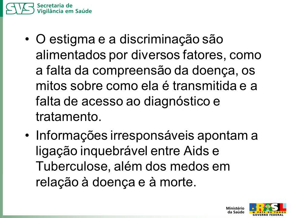 O estigma e a discriminação são alimentados por diversos fatores, como a falta da compreensão da doença, os mitos sobre como ela é transmitida e a falta de acesso ao diagnóstico e tratamento.