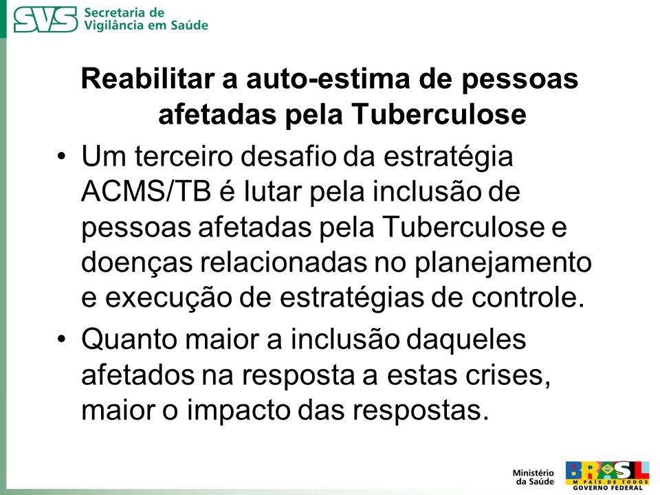Reabilitar a auto-estima de pessoas afetadas pela Tuberculose