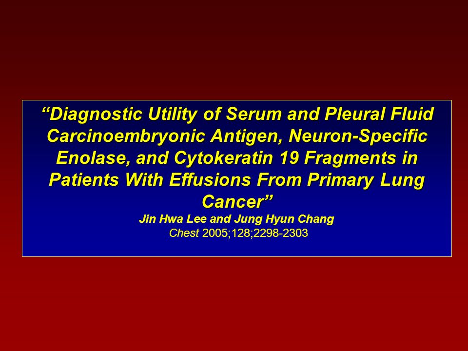 Diagnostic Utility of Serum and Pleural Fluid