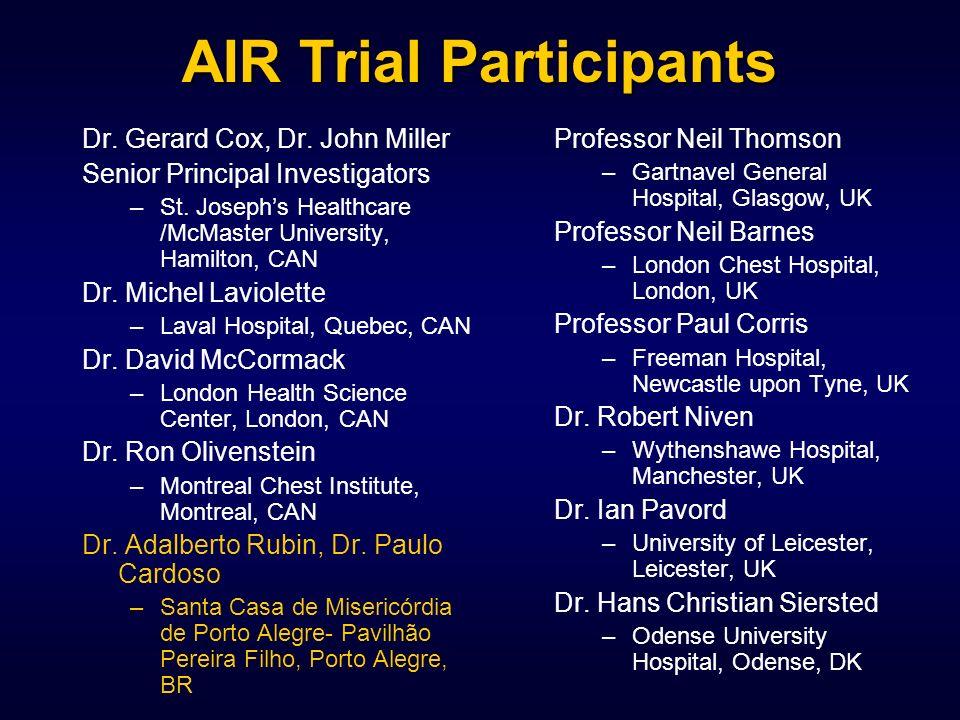 AIR Trial Participants