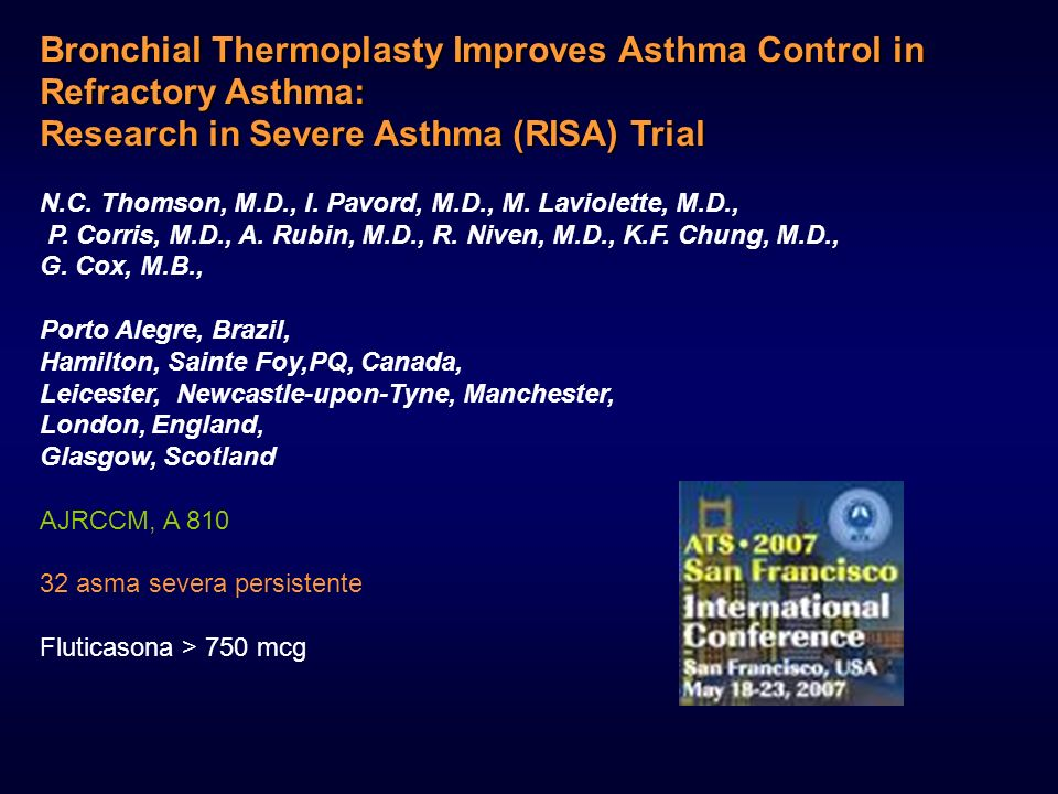 Bronchial Thermoplasty Improves Asthma Control in Refractory Asthma: