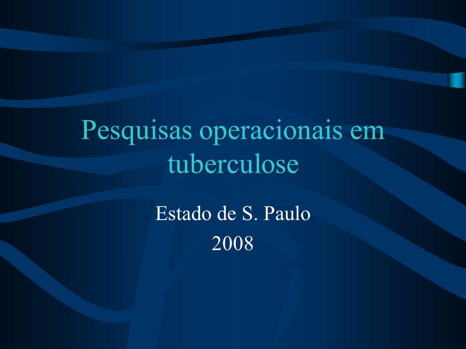Pesquisas operacionais em tuberculose