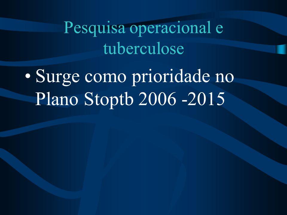 Pesquisa operacional e tuberculose