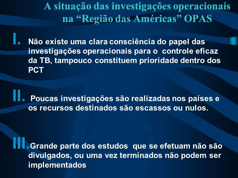 A situação das investigações operacionais na Região das Américas OPAS