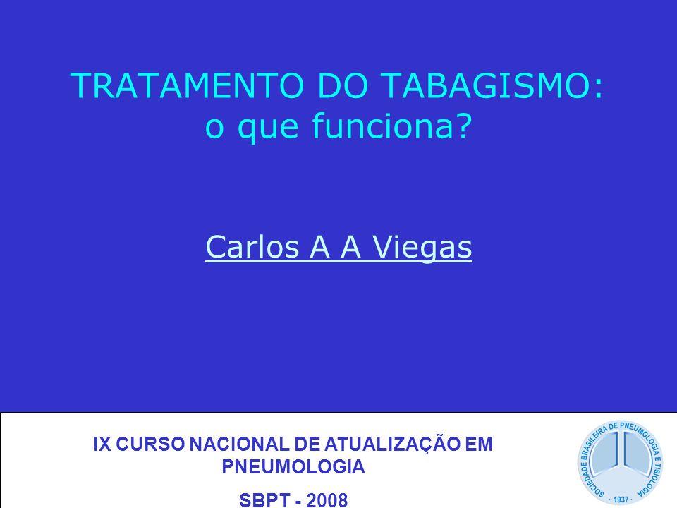TRATAMENTO DO TABAGISMO: o que funciona