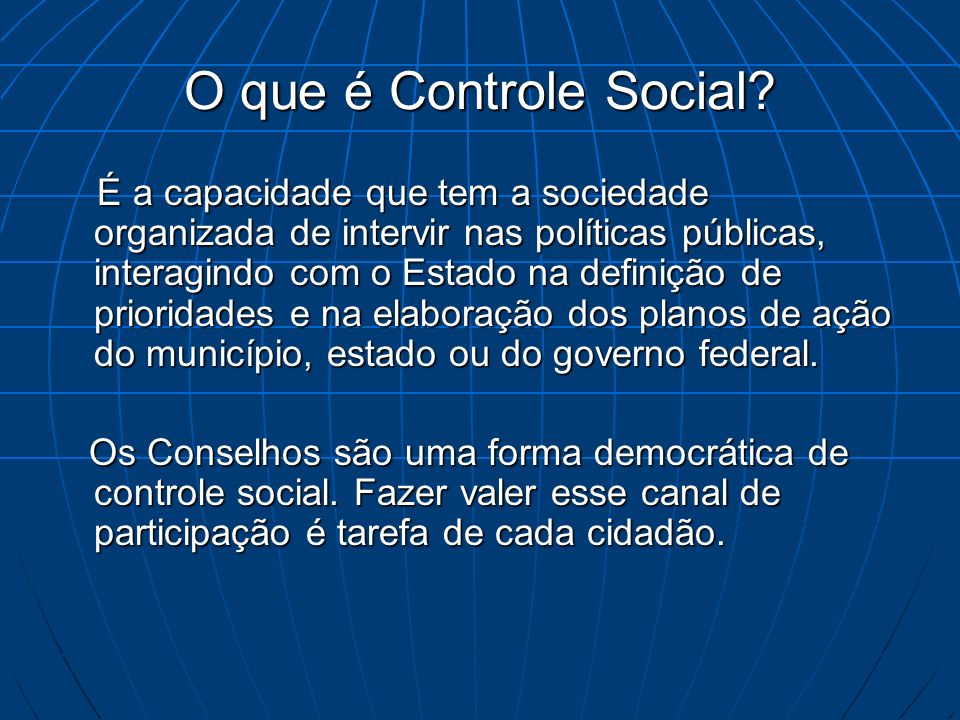 O que é Controle Social