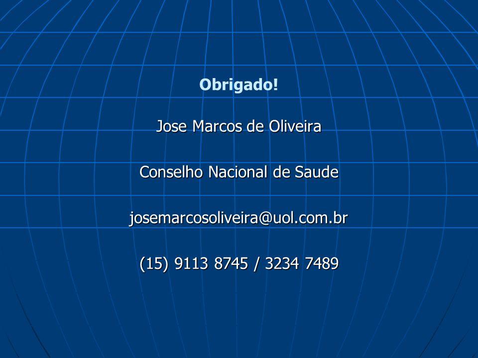 Jose Marcos de Oliveira Conselho Nacional de Saude