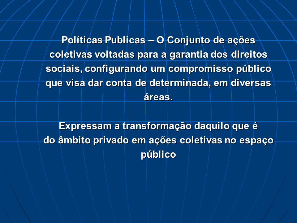 Políticas Publicas – O Conjunto de ações