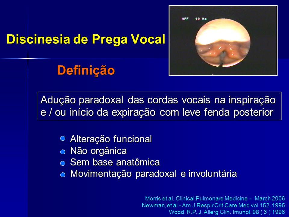 Discinesia de Prega Vocal Definição