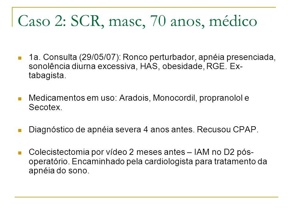 Caso 2: SCR, masc, 70 anos, médico