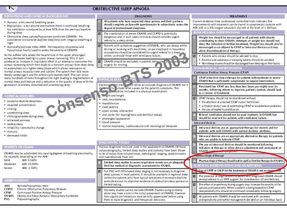 Consenso BTS 2003