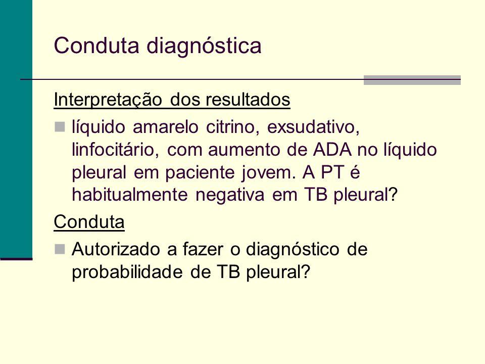 Conduta diagnóstica Interpretação dos resultados