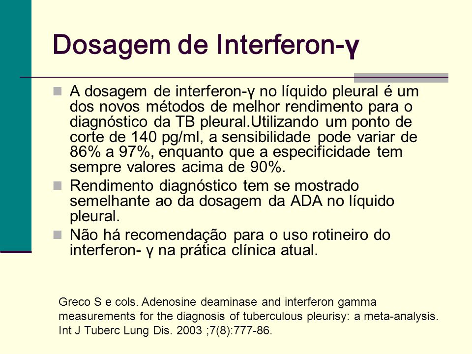 Dosagem de Interferon-γ