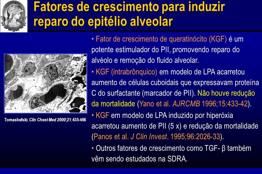 Fatores de crescimento para induzir reparo do epitélio alveolar