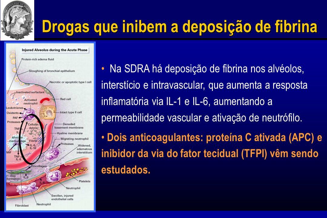 Drogas que inibem a deposição de fibrina