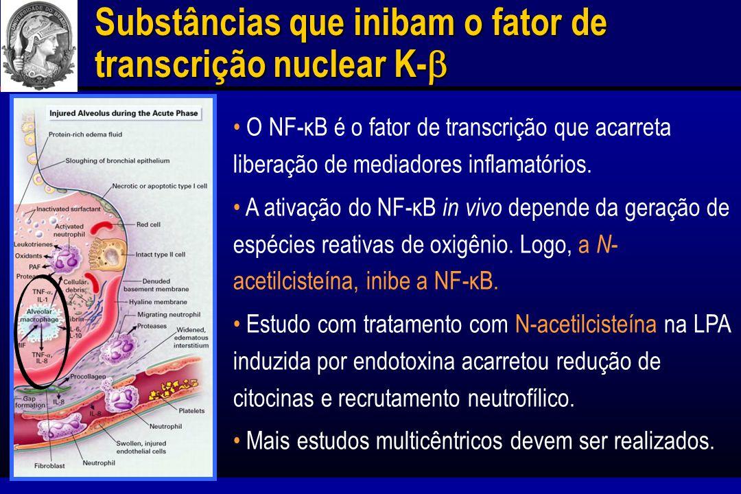 Substâncias que inibam o fator de transcrição nuclear K-b