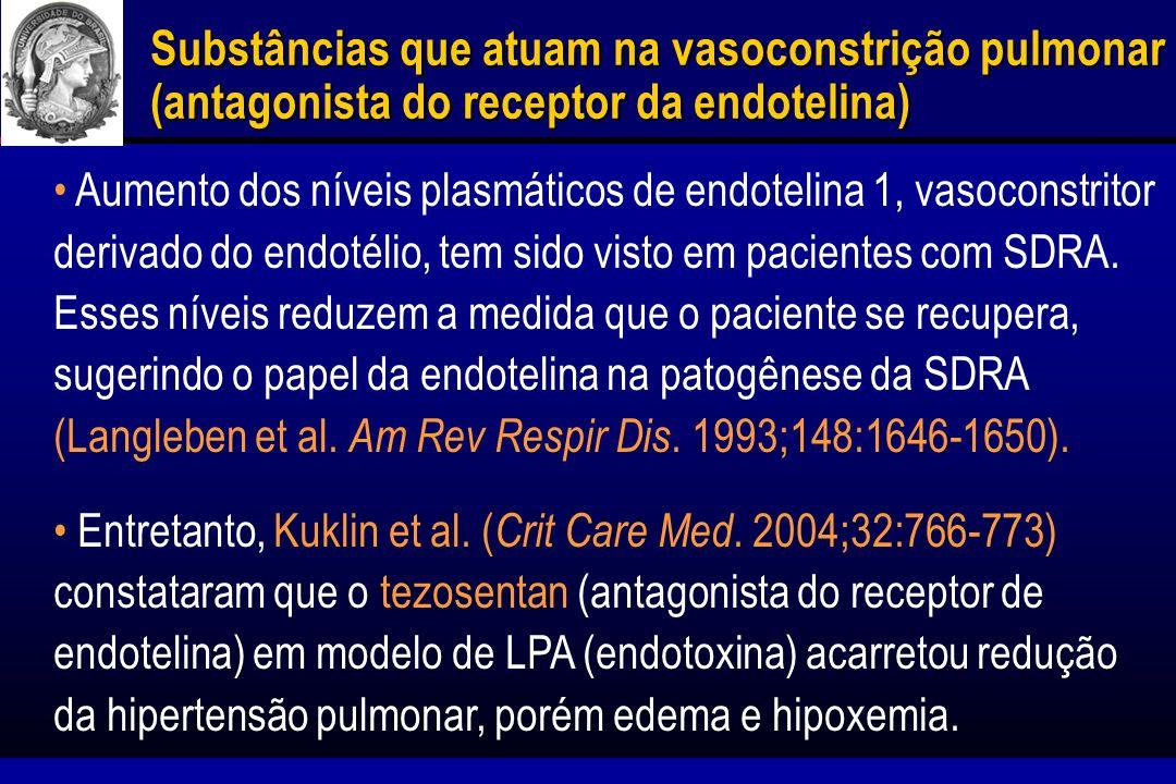 Substâncias que atuam na vasoconstrição pulmonar (antagonista do receptor da endotelina)