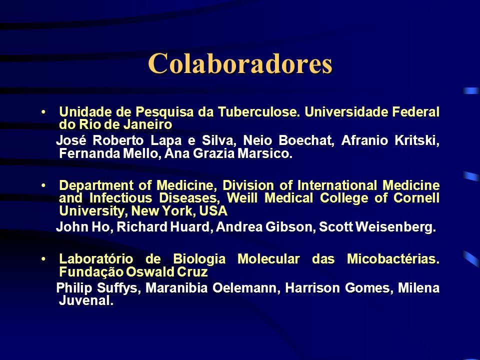 Colaboradores Unidade de Pesquisa da Tuberculose. Universidade Federal do Rio de Janeiro.