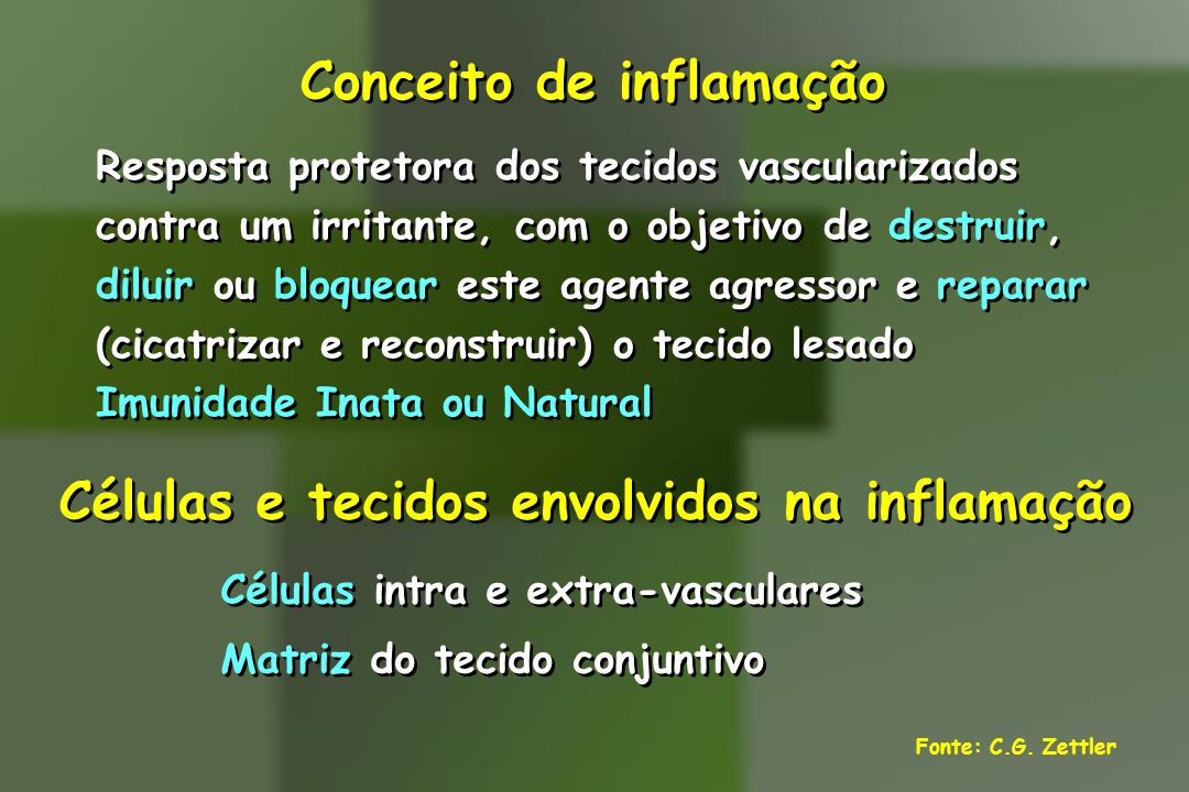 Conceito de inflamação