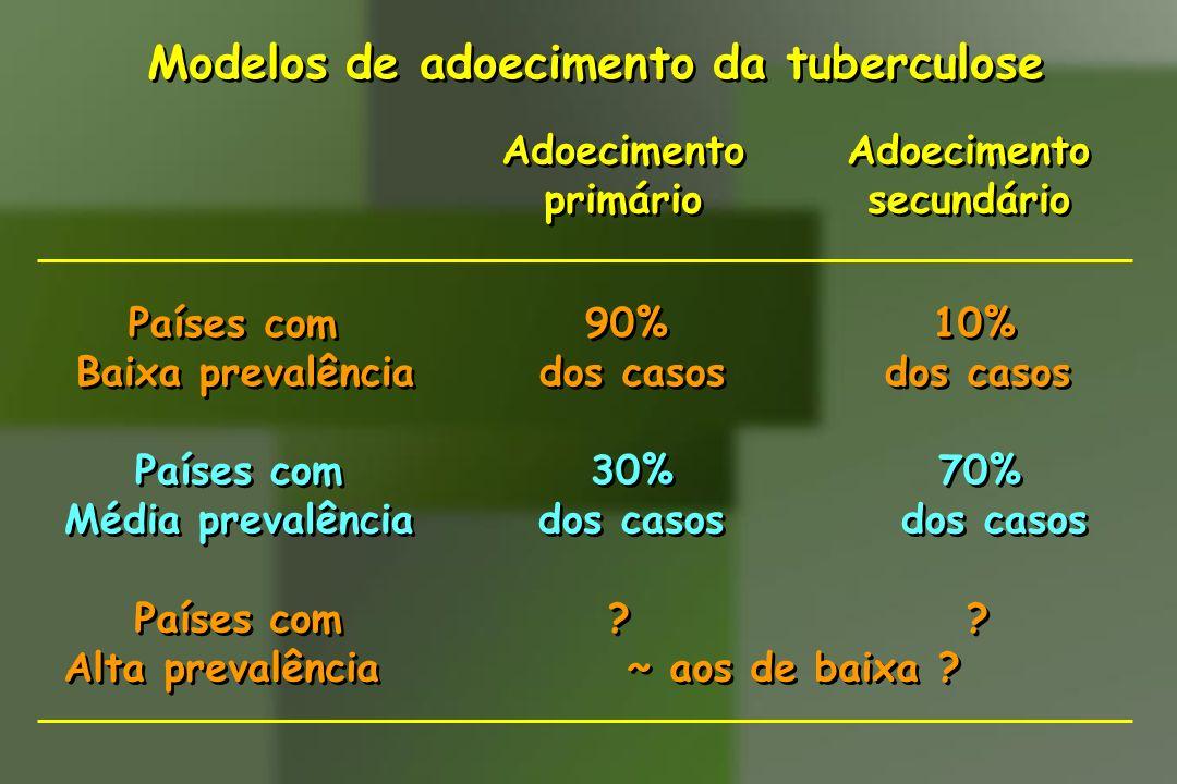 Modelos de adoecimento da tuberculose