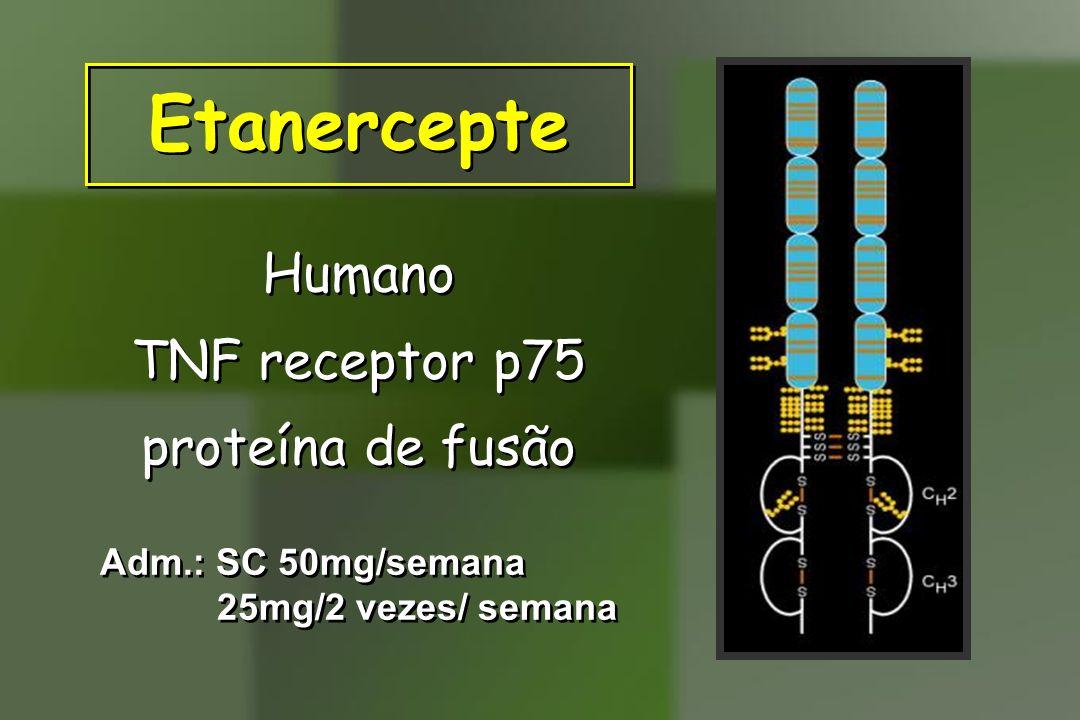 Etanercepte Humano TNF receptor p75 proteína de fusão